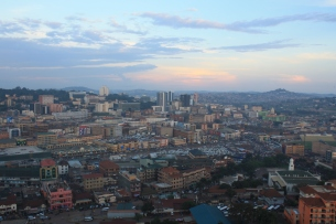 Overlooking Kampala, Uganda from the Uganda National Mosque tower